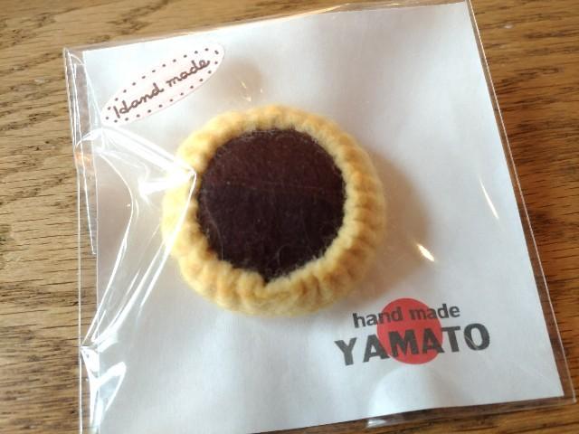 """手づくりフエルトブローチ クッキー 生チョコクッキー ハンドメイド """"YAMATO"""""""