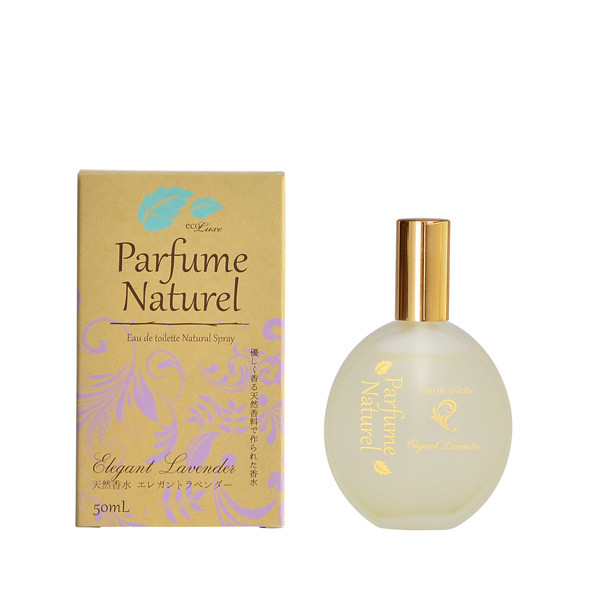 ecoluxe Parfum Naturel エコリュクス パルファム ナチュレ オードトワレ [エレガント ラベンダー] 50ml -精油生まれのシンプル香水-