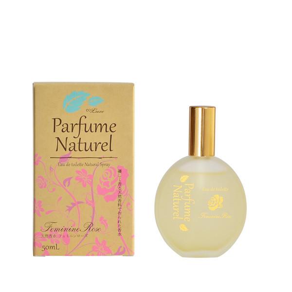 ecoluxe Parfum Naturel エコリュクス パルファム ナチュレ オードトワレ [フェミニン ローズ] 50ml -精油生まれのシンプル香水-