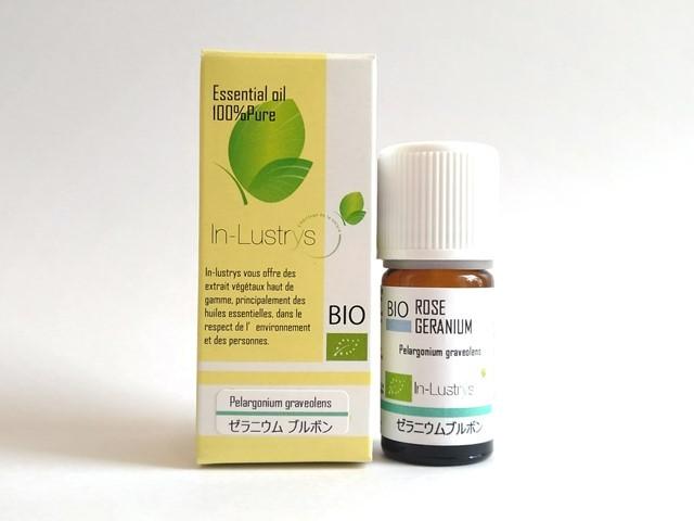 ゼラニウム エジプト (Pelargonium graveolens) 5ml エジプト産 アロマテラピー エッセンシャルオイル 精油 In-Lustrys インラストリーズ