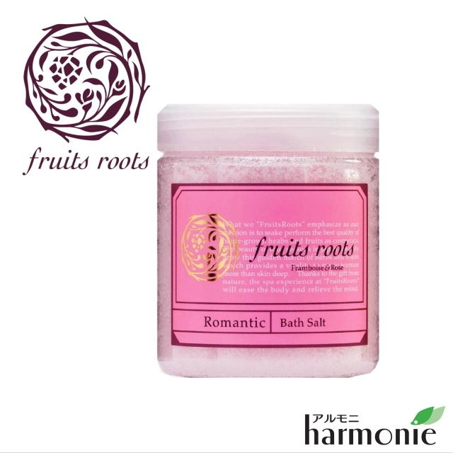 """ロマンティック バスソルト(入浴剤) <フランボワーズ & ローズ> -Body Care Line- 200g fruits roots """"フルーツルーツ"""""""