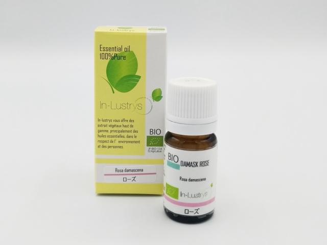 ローズ (Rosa damascena) 5ml ブルガリア産 アロマテラピー エッセンシャルオイル 精油 In-Lustrys インラストリーズ