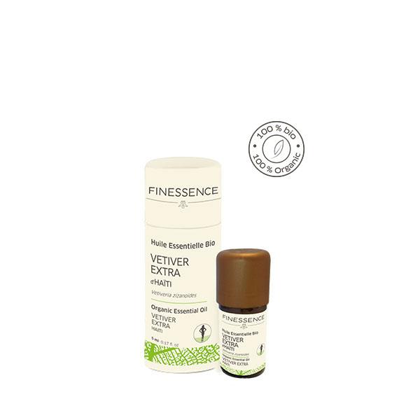 ベチバー (Vetiveria zizanoides) 5ml ハイチ産 アロマテラピー エッセンシャルオイル 精油 FINESSENCE フィネッサンス