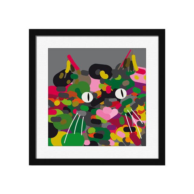 猫のアートパネル