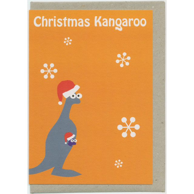 クリスマスカード カンガルー Mokoh Design