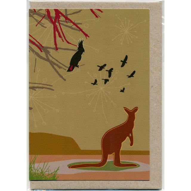 グリーティングカード カンガルー オーストラリア