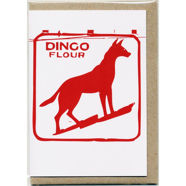 グリーティングカード ディンゴ 犬 オーストラリア