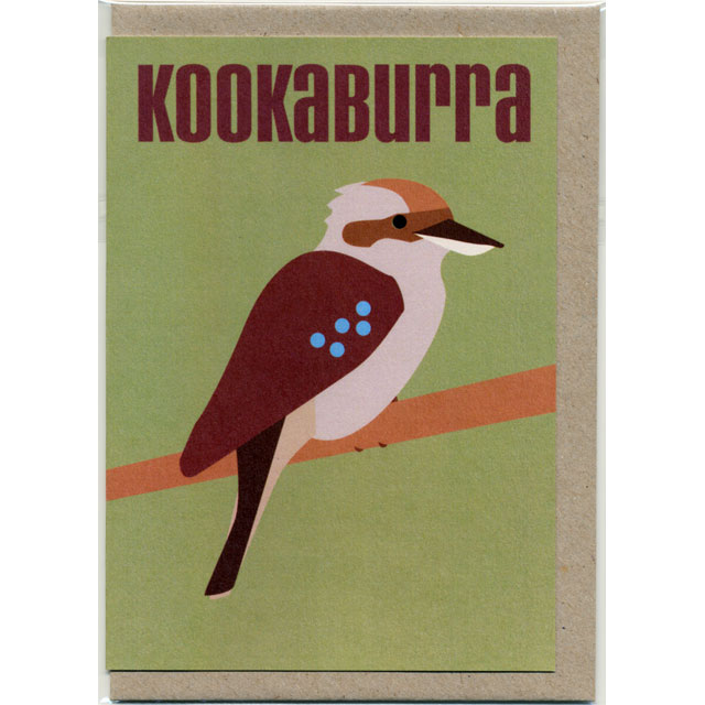 グリーティングカード ワライカワセミ オーストラリア