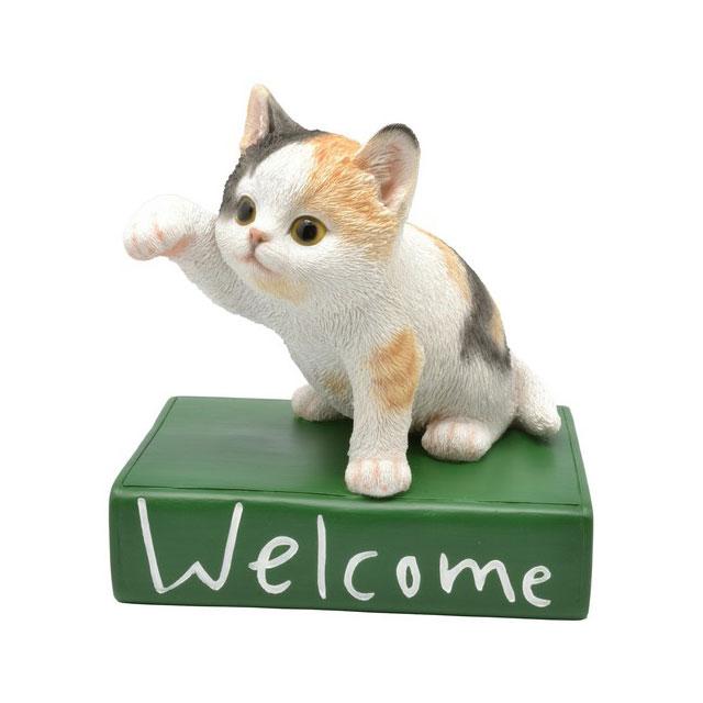 猫の置物 Welcome