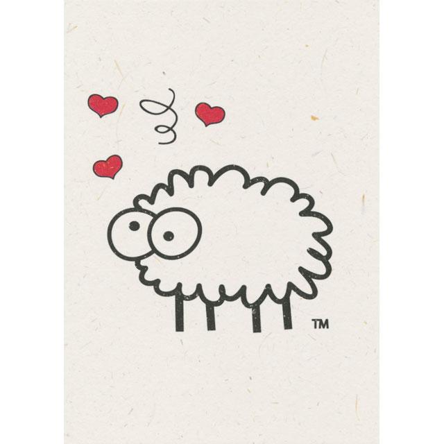 ひつじのフンで再生紙 Sheep Poo Paper バレンタイン