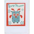 クリスマスカード フクロウ Mokoh Design