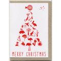 グリーティングカード クリスマス オーストラリアの動物・植物