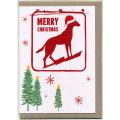 グリーティングカード クリスマス ディンゴ 犬