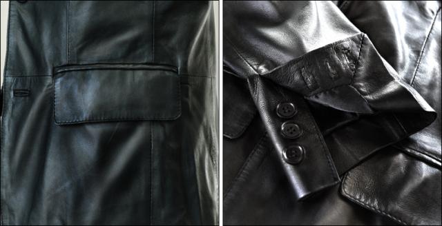 テーラードジャケット 本革 kp004bk3a