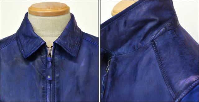 レザージャケット シングル kp005nblu2
