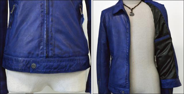 レザージャケット シングル kp005nblu4