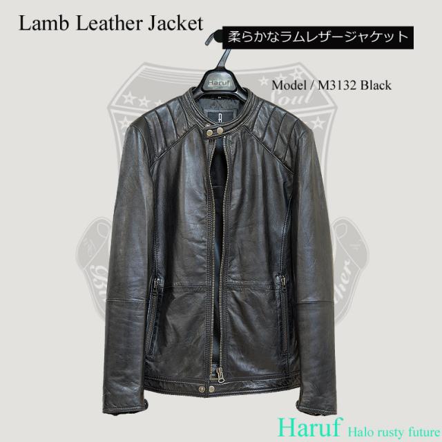 ライダースジャケット シングル m3132bk7