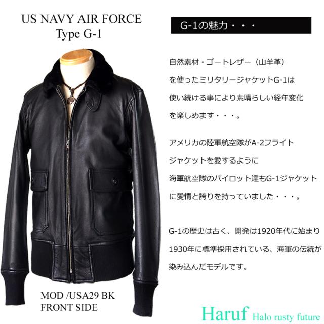 ライダースジャケット シングル military-usa29bkside