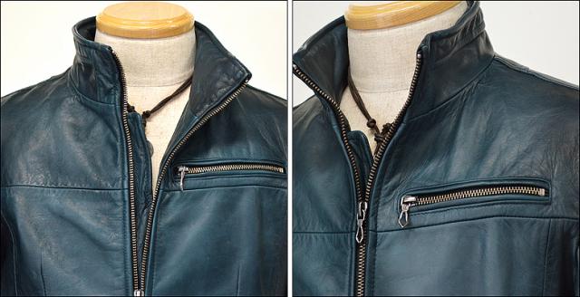 シングル レザージャケット os02nblu2