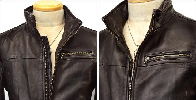 シングル レザージャケット os02dbr2