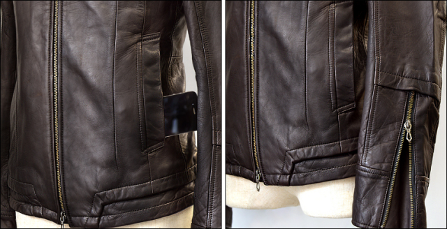 シングル レザージャケット os02dbr3