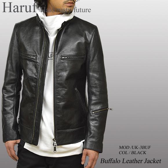 レザージャケット ブラック uk3bufbkmod
