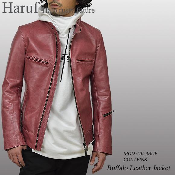 レザージャケット ピンク uk3bufpinmod