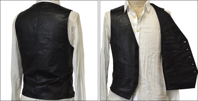 レザーベスト メンズ vest-usa126gbk3