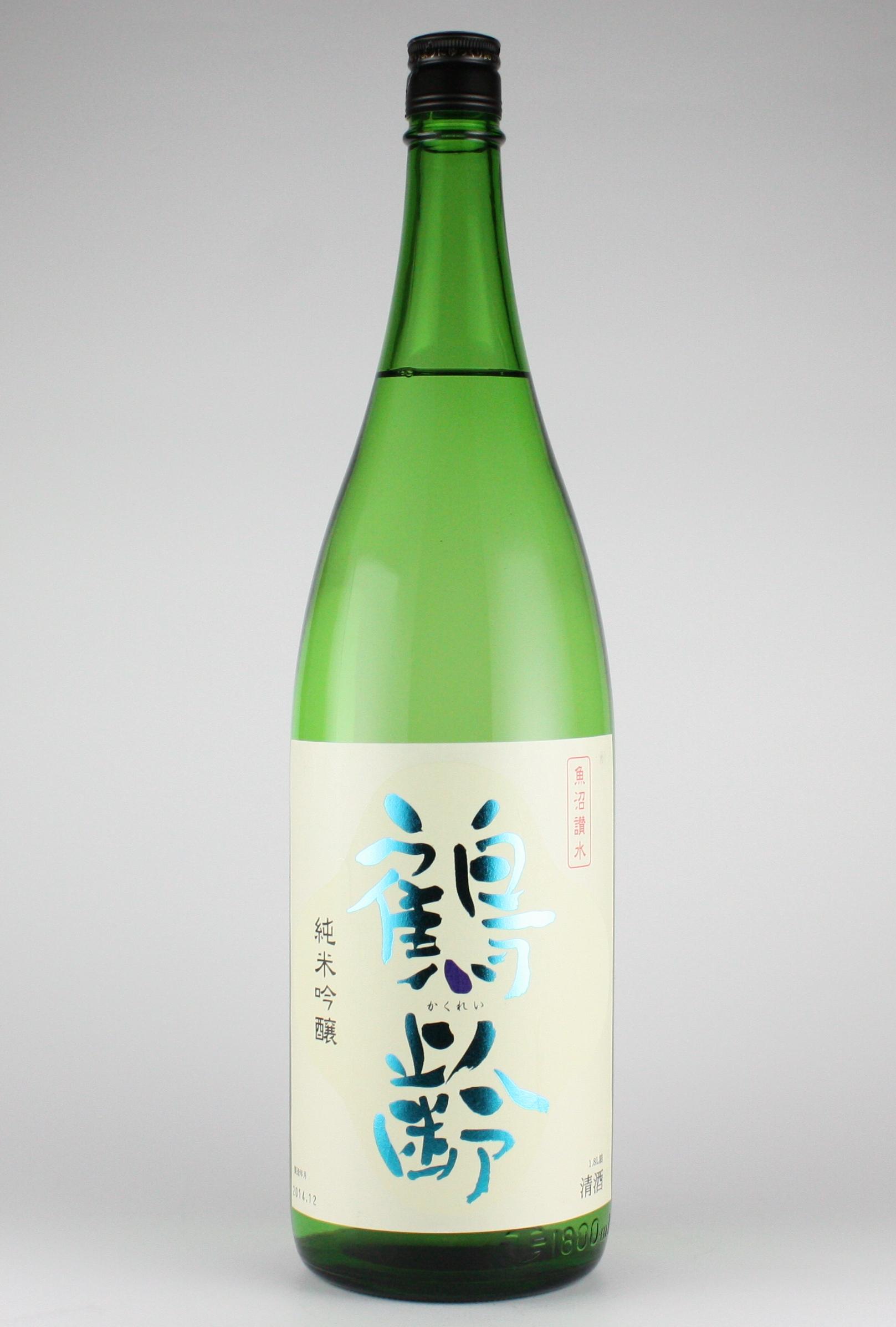 鶴齢 純米吟醸 越淡麗 1800ml 【新潟/青木酒造】