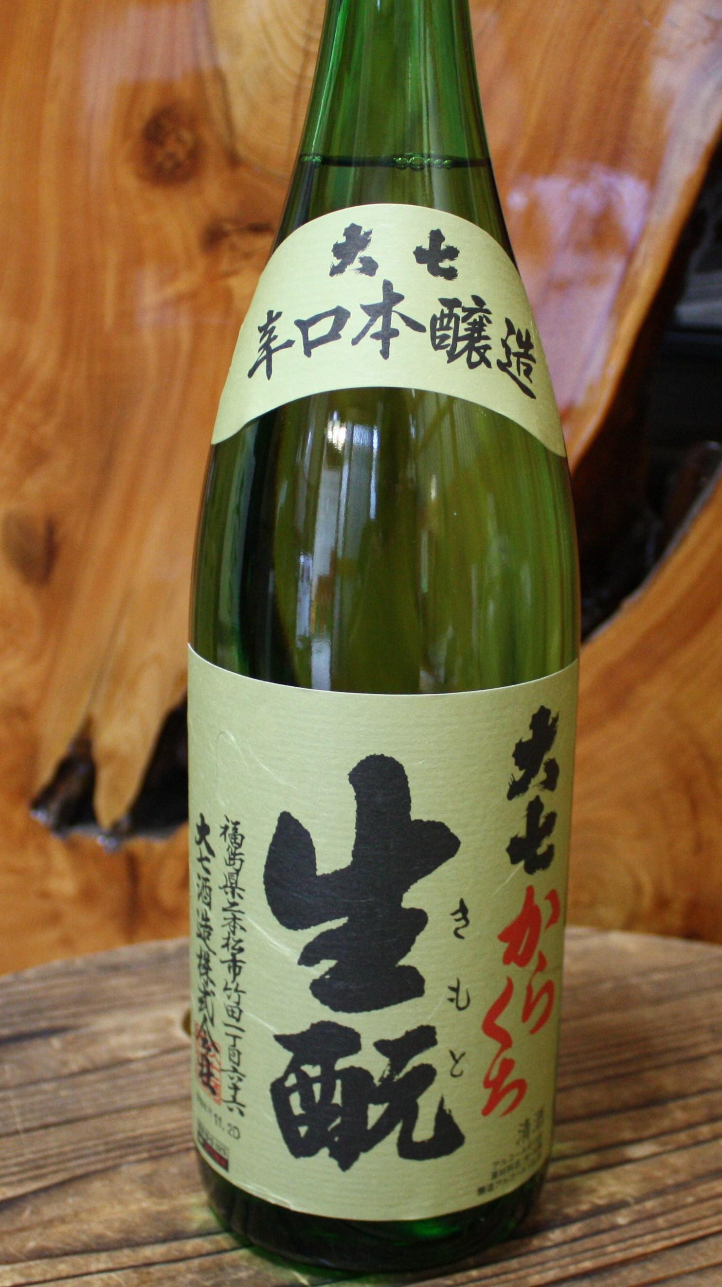大七 辛口きもと本醸造 1800ml 【福島/大七酒造】