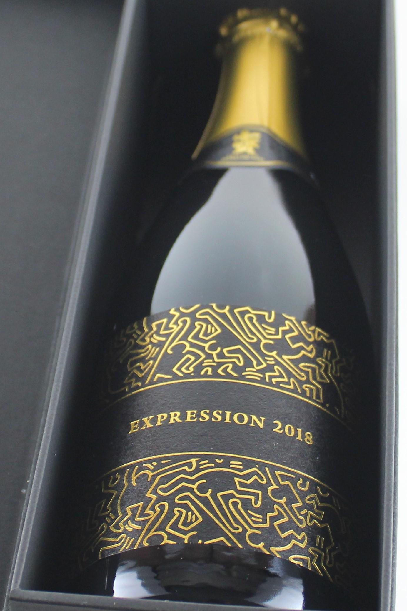 七賢 EXPRESSION2018-エクスプレッション スパークリング 720ml 【山梨/山梨銘醸】キース・へリングとのコラボレーション/蔵出限定2000本