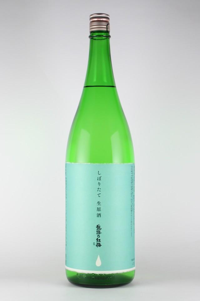越路乃紅梅 しぼりたて 純米無濾過生原酒 1800ml 【新潟/頚城酒造】