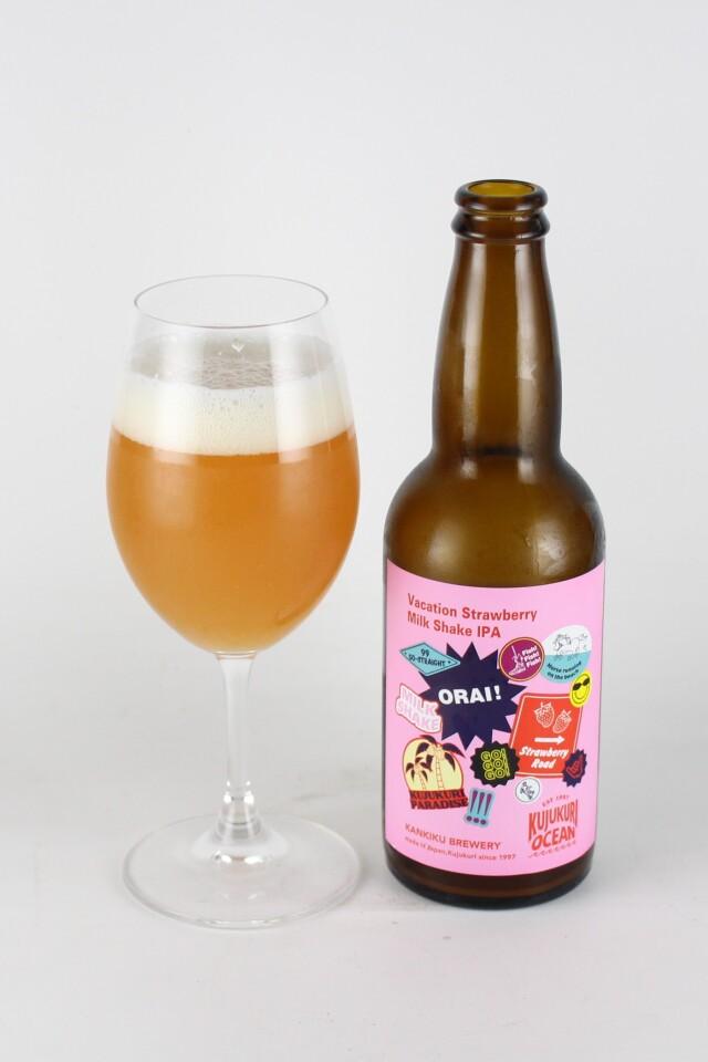 九十九里オーシャンビール Vacation Strawberry Milk Shake IPA 330ml 【千葉/寒菊銘醸】