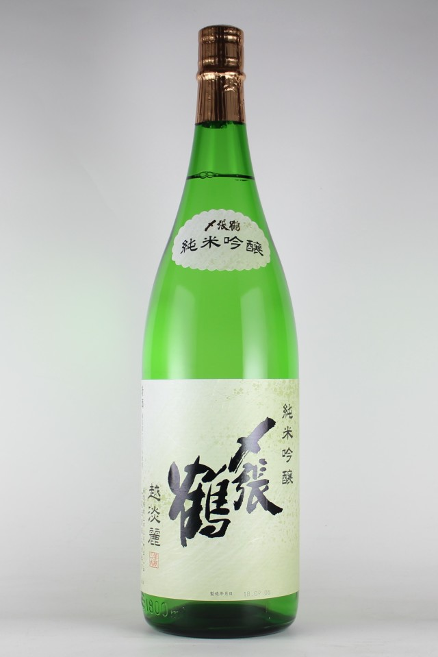 〆張鶴2018 純米吟醸 越淡麗 1800ml 【新潟/宮尾酒造】