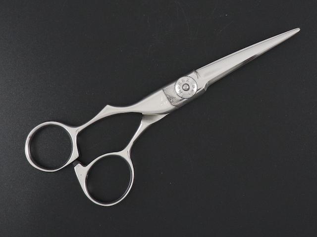 【中古シザー】富士 MF 左利き用(5.0インチ)トリマー用 美容師用 理容師用 セルフカット用