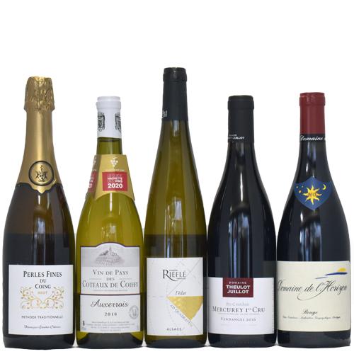 【送料無料】 ツール・ド・フランス第3弾!   ワインで旅する美味しいフランス5本セット