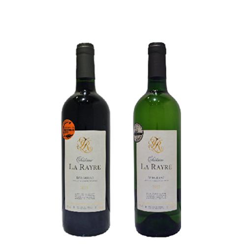 【ギフトラッピング付】デイリーワインの定番 シャトー・ラ・レイル 赤白2本セット
