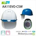 作業用 ヘルメット DIC AA11EVO-CSW ライナー・シールド(クリア)付き