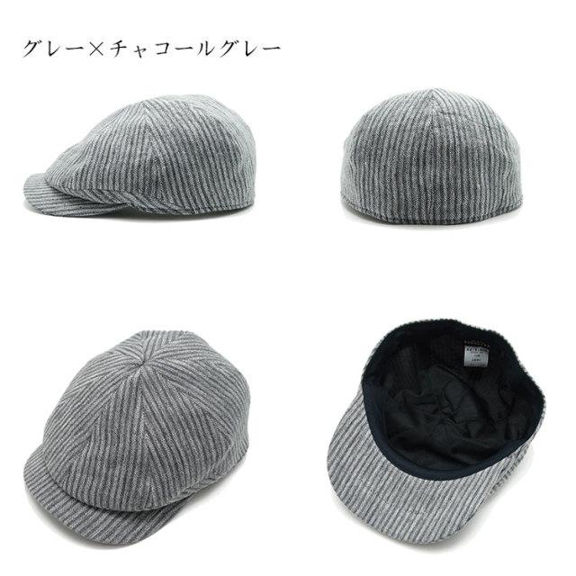 ハンチング・キャスケット吉美の衣ストライプ_1