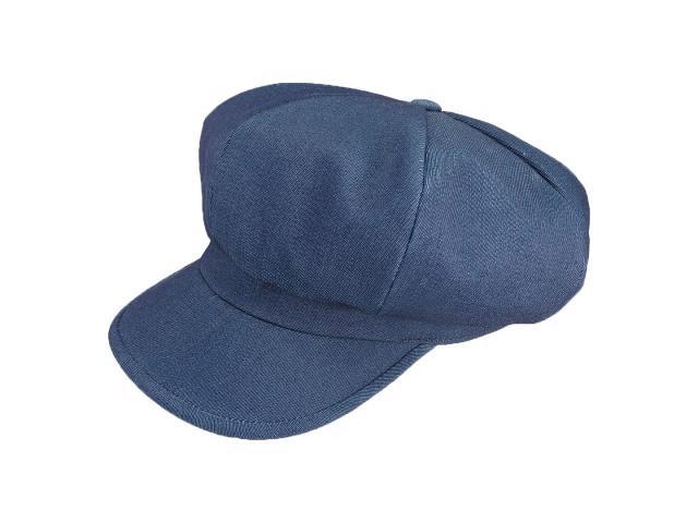 Blue gloss denim casquette / Made in Tokyo