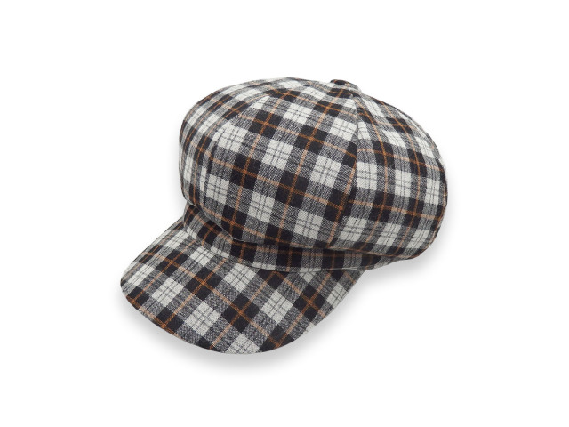 Wool check casquette 2/ ウール地チェック柄キャスケット / Made in tokyo