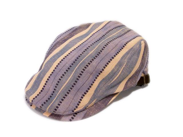 【EDHAT(エドハット)】 Linen Color Stripe hunting(日本製)