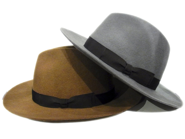 【KNOWLEDGE(ナレッジ)オリジナル】 Wide Felt Hat(日本製)