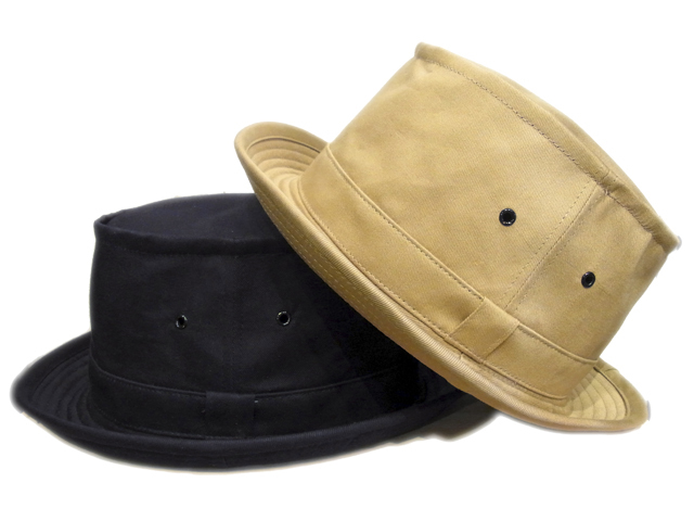 【KNOWLEDGE(ナレッジ)】 Canvas Porkpie Hat(日本製)