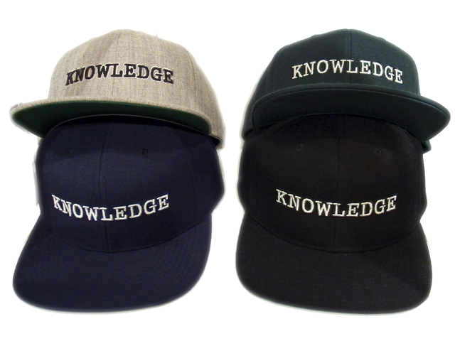 【KNOWLEDGE(ナレッジ)オリジナル】 KNOWLEDGE Baseball Cap 2015AW