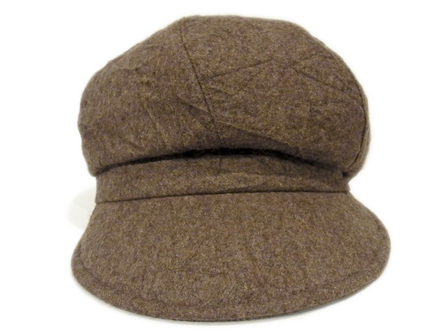 【KNOWLEDGE(ナレッジ)】 Crinkle Wide Casquette(日本製)