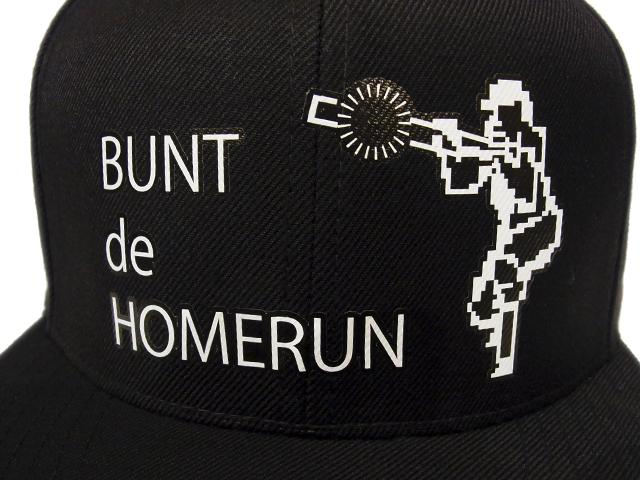 【KNOWLEDGE(ナレッジ)オリジナル×燃えろ!!プロ野球】 Bunt Homerun Cap