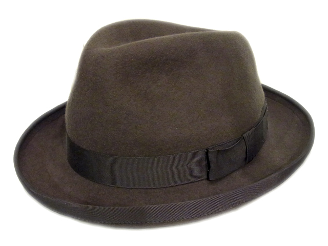 【CHRISTYS'(クリスティーズ)】 Gray Felt Homburg Hat(イギリス製)