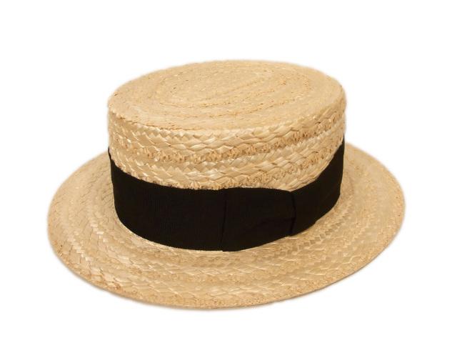 【国内仕入れ】 Boater Hat(カンカン帽)
