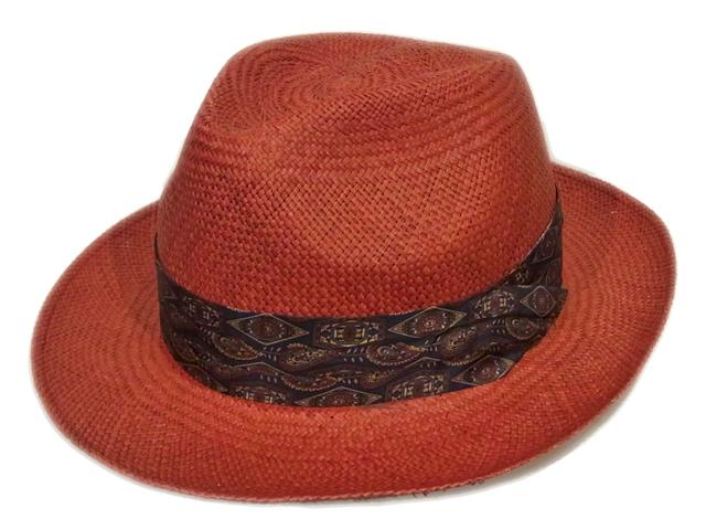 【CHRISTYS'(クリスティーズ)】 Wide Red Panama Hat(イギリス製)